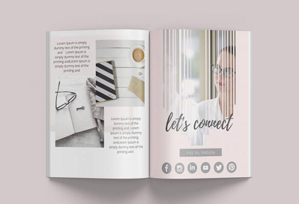 canva book template contact me pages