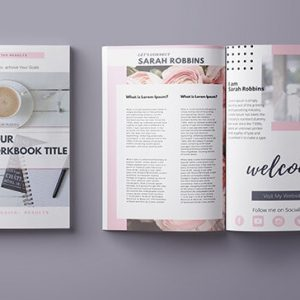 canva workbook templates cover