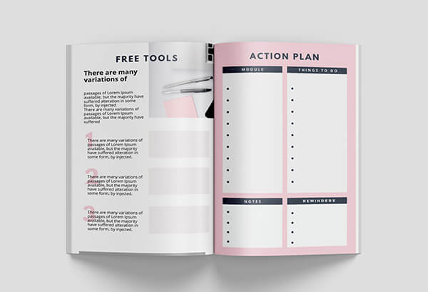 canva workbook templates weekly planners